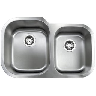 Double Bowl Stainless Steel 0S-GVVU3120A29 31-inch Stainless Steel Undermount Kitchen Sink