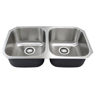 Golden Vantage 32-Inch Double Bowl 0S-GVVU3218A09 Stainless Steel Undermount Kitchen Sink