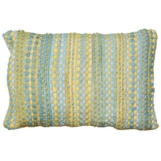 LNR Home Contemporary Blue Yellow 16 x 24 Throw Pillow