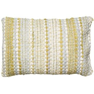 LNR Home Contemporary Yellow/ Grey 16 x 24 Throw Pillow