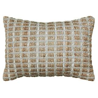 LNR Home Contemporary Pillow Grey Square 18-inch Decorative Throw Pillow