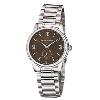 Revue Thommen Men's 15005.3136 'Slimline' Brown Dial Stainless Steel Bracelet Mechanial Watch