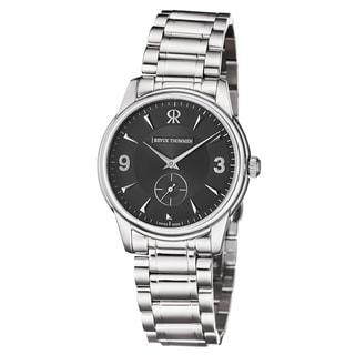 Revue Thommen Men's 15005.3137 'Slimline' Black Dial Stainless Steel Bracelet Mechanial Watch