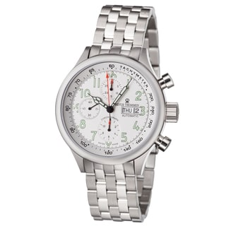 Revue Thommen Men's 17060.6133 'Pilot' White Dial Stainless Steel Chronograph Automatic Watch