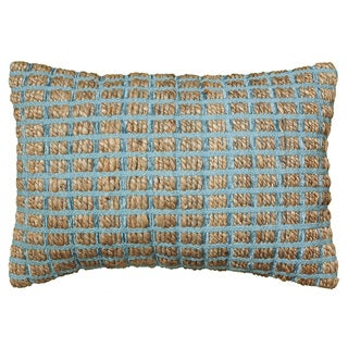 LNR Home Contemporary 16 x 24 Blue Throw Pillow