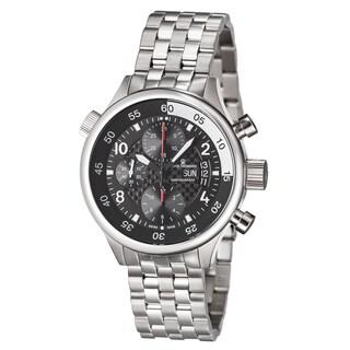 Revue Thommen Men's 17061.6134 'Pilot' Black Carbon Fiber Dial Stainless Steel Automatic Watch