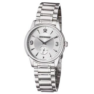 Revue Thommen Men's 15005.3132 'Slimline' Silver Dial Stainless Steel Bracelet Mechanial Watch
