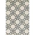Hand-hooked Meadow Ivory/ Black Wool Rug (9'3 x 13'0)