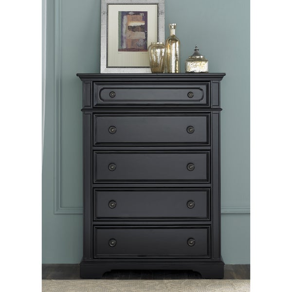 Liberty Black 5-Drawer Chest