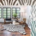 Hand-tufted Kingdom Zebra Shag Rug (5'0 x 7'6)