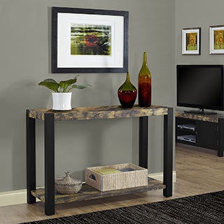 Black Distressed Reclaimed-Look 48-inch Console Table