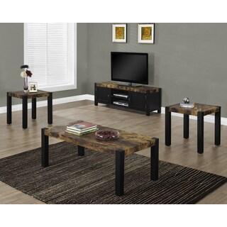 Black Distressed Reclaimed-Look Tables (Set of 3)