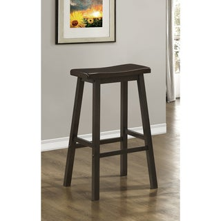 Cappuccino 29-inch Saddle Seat Barstools (Set of 2)