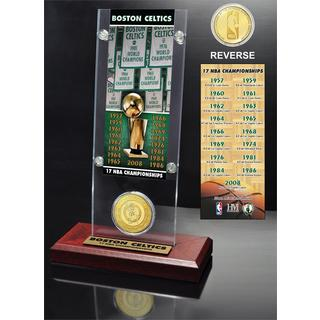 Boston Celtics 17-time NBA Champions Ticket & Bronze Coin Acrylic Desk Top