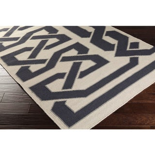 Beth Lacefield Hand-woven Ilkeston Reversible Wool Rug (2' x 3')