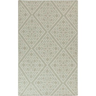 Flatweave Hand-woven Beth Lacefield Brierley Reversible Wool Rug (8' x 11')