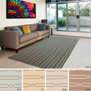 Flatweave Nadi Reversible Wool Rug (9' x 13')
