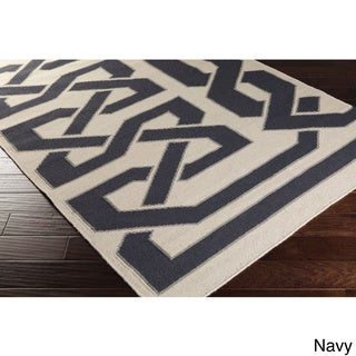 Beth Lacefield Hand-woven Ilkeston Reversible Wool Rug (2'6 x 8')