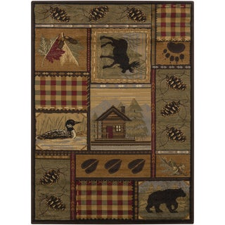 Artfully Crafted Isley Polyester Rug (7'10 x 10'3)
