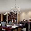 8-light 16-inch Rosielee White Chandelier