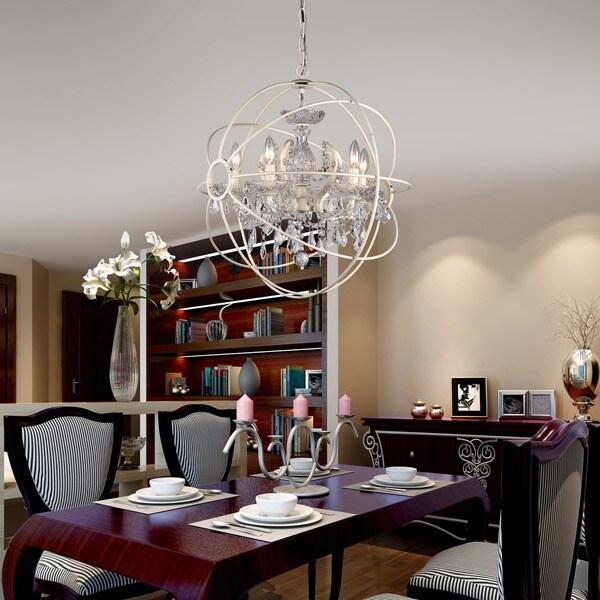 5 Light 22 Inch Rosielee White Chandelier 16801704 Shopping Great Deals On