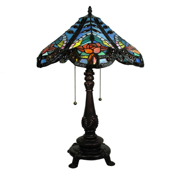 Tiffany-style Djullienne Table Lamp