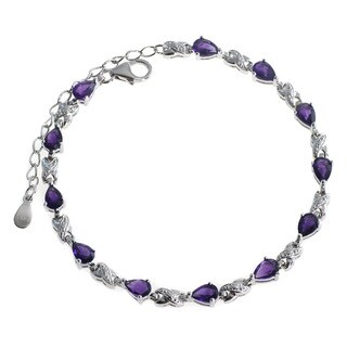 De Buman Sterling Silver Natural Gemstones Bracelet