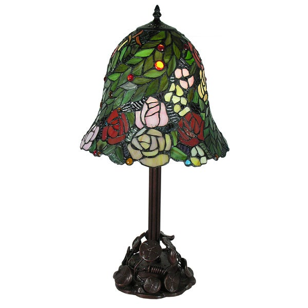Tiffany-style Talia Water Lily Table Lamp
