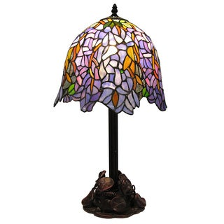 Tiffany-style Klaibourne Water Lily Table Lamp