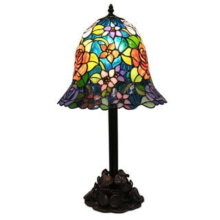 Tiffany-style Rinji Water Lily Table Lamp