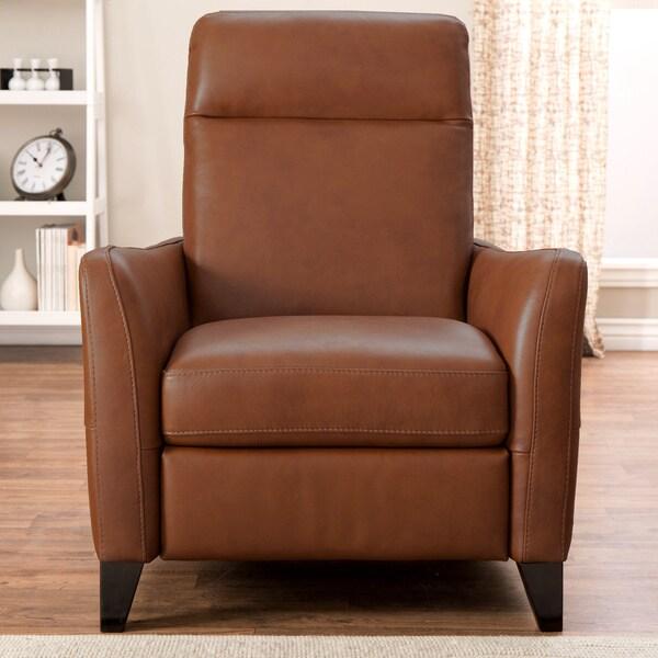 Natuzzi Dallas Tan Italian Leather Recliner