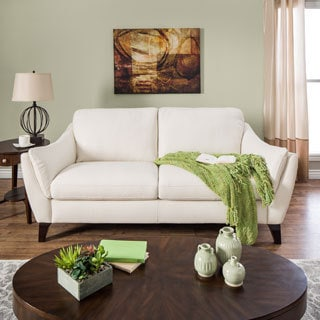 Natuzzi Linda Creme Italian Leather Sofa