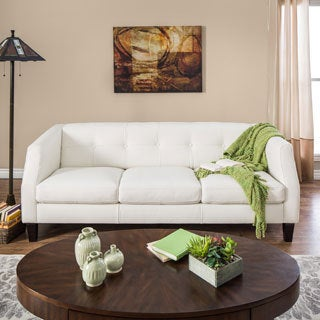 Natuzzi Vittoria Off-white Italian Leather Sofa