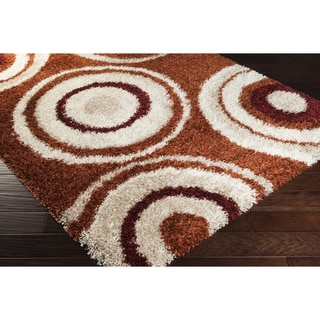 Meticulously Woven Bezie Geometric Shag Rug (7'9 x 11'2)