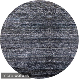 Hand-hooked Valerie Abstract Round Cotton and Wool Area Rug (8' Round)