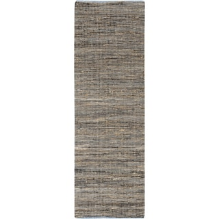 Hand-Loomed Reversible Haley Abstract Area Rug -(2'6 x 8')