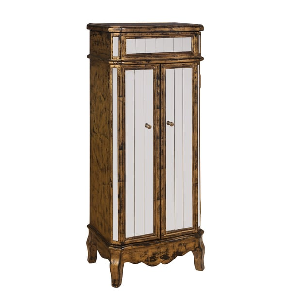 Christopher Knight Home Antique Gold Trim Jewelry Armoire