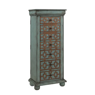 Christopher Knight Home Keller Blue Antique Jewelry Armoire