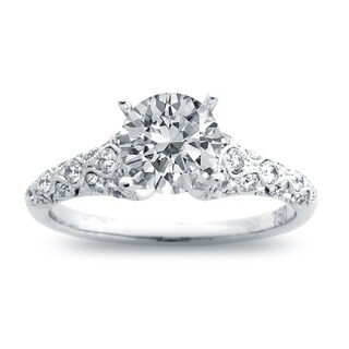 14k White Gold 4/5ct TDW Round Diamond Engagement Ring (G-H, SI1-SI2)