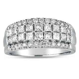 Eloquence 14k White Gold 1 1/2ct TDW Diamond Anniversary Band (H-I, I1-I2)