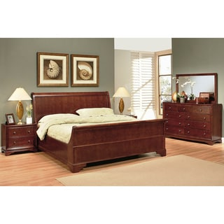 Abbyson Living Kingston 5-piece Walnut Sleigh Bedroom Set