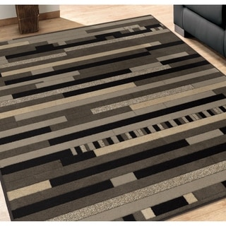 Da Vinci Collection Reardon Gray Olefin Area Rug