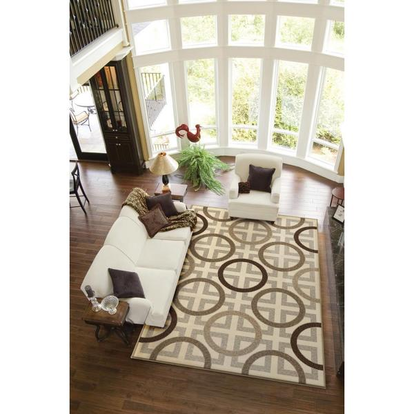 Da Vinci Collection Baker Beige Olefin Area Rug