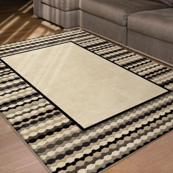 Da Vinci Collection Nalini Beige Olefin Area Rug