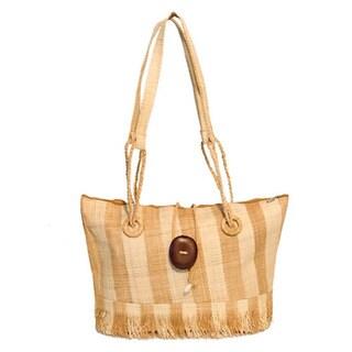 Ema Handmade Eco-friendly Raffia Shoulder Bag (Cameroon)