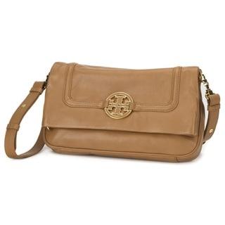 Tory Burch Amanda Foldover Royal Tan Messenger Bag