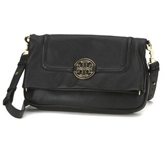 Tory Burch Amanda Foldover Black Messenger Bag