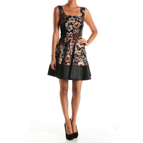 Mystic Women's Flared Floral Print A-line Dress