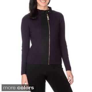 Nancy Yang Fashion Women's Knit Sweater with Zipper