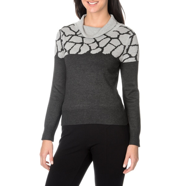 Nancy Yang Fashion Women's Cowl Neck Knit Pullover Sweater